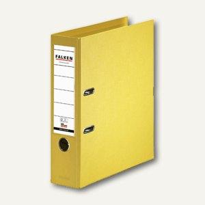 Falken Ordner, DIN A4, PP, Rücken 80 mm, Wechselfenster, gelb, 11285517
