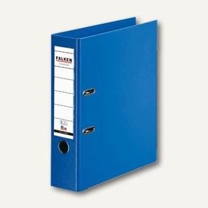 Falken Ordner, DIN A4, PP, Rücken 80 mm, Wechselfenster, blau, 11285467