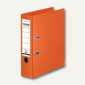 Falken Ordner, DIN A4, PP, Rücken 80 mm, Wechselfenster, orange, 11285798