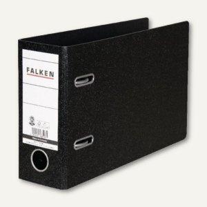 Falken Ordner, DIN A5 quer, Rücken 80 mm, schwarz, 11285905
