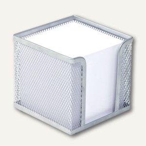 Wedo Zettelbox Office, Drahtmetall, 10 x 10 x 10 cm, silber, 65754