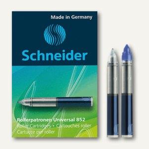 Schneider Tintenpatrone, Rollerpatrone Universal 852, blau, 5er Pack, 185203
