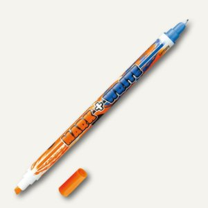 "Pelikan Tintenschreiber/Textmarker ""Mark + Write"" 2in1, orange/blau, 910984"