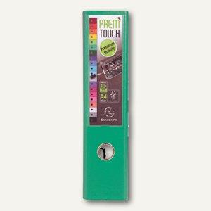 Exacompta Ordner Prem Touch, DIN A4 Maxi, Rücken 80 mm, PP, grün, 53343E
