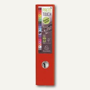 Exacompta Ordner Prem Touch, DIN A4 Maxi, Rücken 80 mm, PP, rot, 53345E