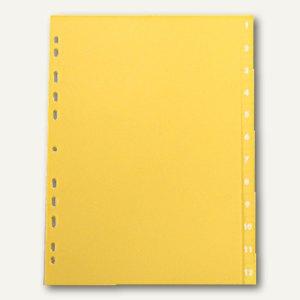 Elba Register One, DIN A4, 12-teilig, Zahlen 1-12, 120my, gelb, 400010208