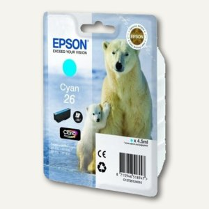 Epson Tintenpatrone Nr. 26, cyan, C13T26124010