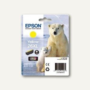 Epson Tintenpatrone T2634, Nr. 26XL, gelb, C13T26344010