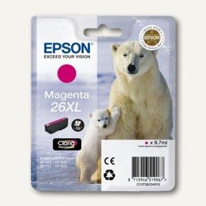 Epson Tintenpatrone T2633, Nr. 26XL, magenta, C13T26334010
