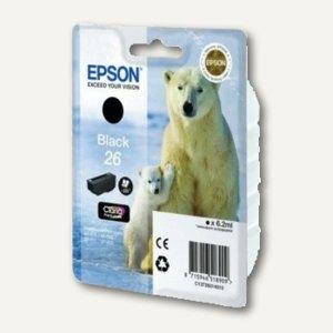 Epson Tintenpatrone Nr. 26, schwarz, C13T26014010