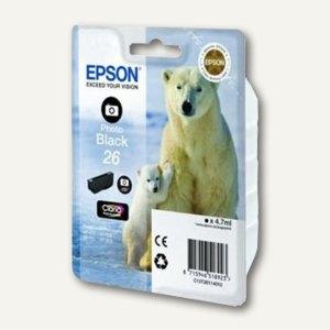 Epson Tintenpatrone T2631, Nr. 26XL, schwarz-photo, C13T26314010