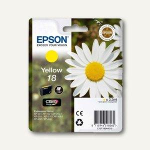 Epson Tintenpatrone T1804, Nr.18, gelb, C13T18044010