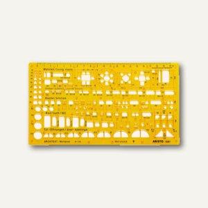 Aristo Architekten Werkplanschablone, 225x125x1.2mm, 1:1000, 70-AH5061