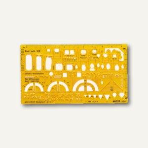 """Aristo Werkplanschablone """"Architekt 1"""", 225x125x1.2 mm, 1:50, 70-AH5060"""