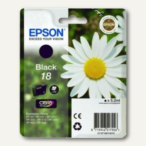 Epson Tintenpatrone T1801, Nr.18, schwarz, C13T18014010