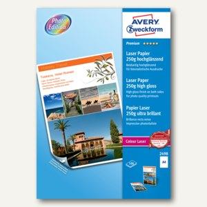 "Zweckform Laser-Papier ""Premium Colour"", DIN A4, 250 g/m², 100 Blatt, 2498"