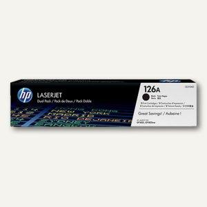 HP Toner Nr. 126A, ca. 1.200 Seiten, Doppelpack, schwarz, CE310AD