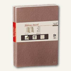 Quo Vadis Notizbuch Habana Smooth, 16x24cm, 48 Bl., eisbraun, 2er Pack, 237440Q