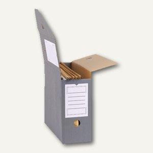 smartboxpro Archivbox für Hängemappen, Wellkarton, anthrazit/weiß, 226161310