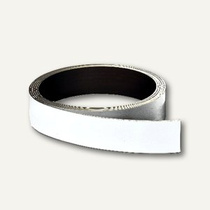 Franken Magnetische Lagerschilder, beschreibbar, 10 mm x 10 m, weiß, LS10