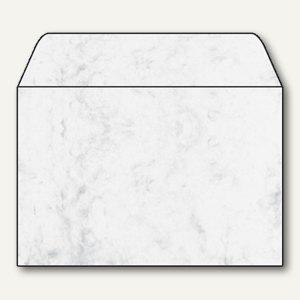 Sigel Marmor-Briefumschlag C6 m. Innendruck, 90g/m² nasskl., grau, 25St., DU009