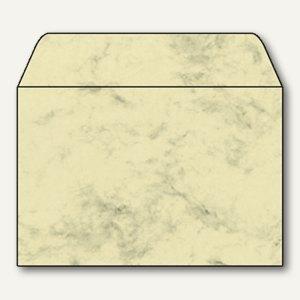 Sigel Marmor-Briefumschlag C6 m. Innendruck, 90g/m² nasskl., beige, 25 St.,DU011