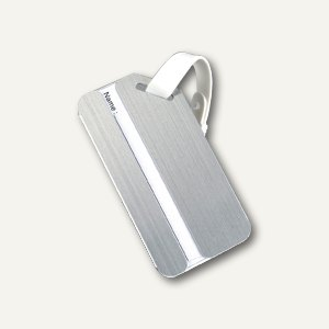 Alassio Kofferanhänger mit Adressfeld, Aluminium, silber, 40521