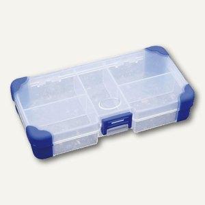 VISO Aufbewahrungsbox, B140 x H30 x L80 mm, Griff, transparent, JAP1407