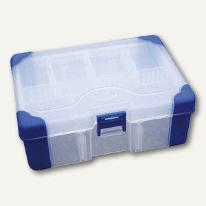 VISO Aufbewahrungsbox, B170 x H60 x L130 mm, Griff, transparent, JAP1713