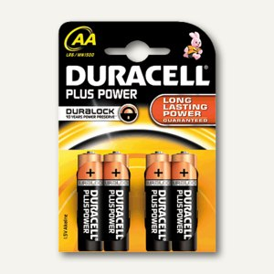Duracell Batterien Plus Power, Typ AA, 4 Stück, DUR017641