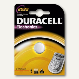Duracell Lithium Knopfzelle ELECTRONICS, CR2025, DUR033979
