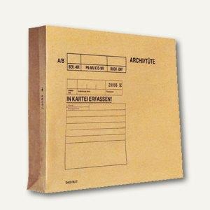 Archivierungstaschen 324x250mm, braun, mit Paginierung, 120g/qm, 100 St., EM065