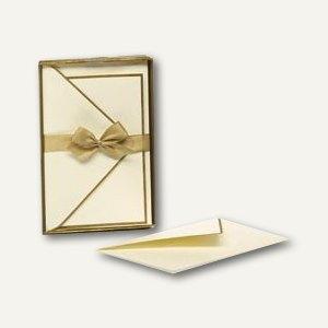 Handgeränderte Karten inkl. Umschläge, 85 x 128 mm, gold, 40 Stück, 1828206075