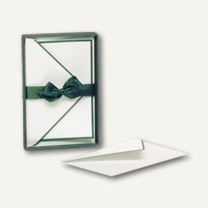 Handgeränderte Karten inkl. Umschläge, 85x128mm, grün, 40 Stück, 1828205097
