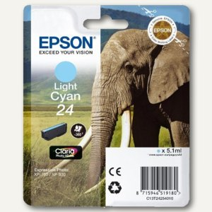 Epson Tintenpatrone Nr. 24, hell-cyan, C13T24254010