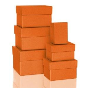 Rössler BOXLINE Kartonagen, rechteckig, div. Größen, sunrise, 6 Stück,1344453210