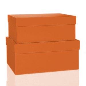 Rössler BOXLINE Kartonagen, rechteckig, div. Größen, sunrise, 2 Stück,1345453210