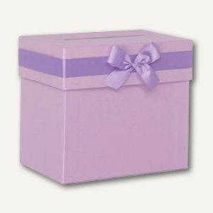 Rössler Sammelboxen mit Schleife 205x185x130, orchidée, 2er Pack, 1340311045