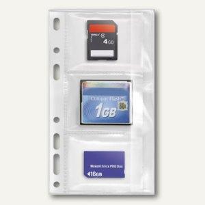 Veloflex Speicherkarten-Hüllen zum Abheften, PVC, transparent, 3 Stück, 4378010