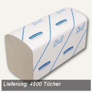 Scott Handtücher klein, 23,8 x 21,2 cm, Zick-Zack, 1-lagig, weiß, 4.800 St.,6775