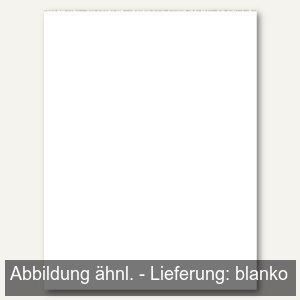 officio Notizblock DIN A7, Recyclingpapier, blanko, 50 Blatt, 60g/m², 608455000