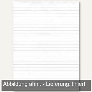 officio Notizblock DIN A7, Recyclingpapier, liniert, 50 Blatt, 60g/m², 608455010