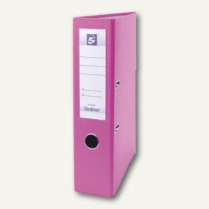officio Kunststoff-Standardordner, Rückenbreite 75 mm, rosa, S21754