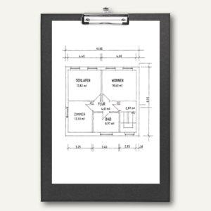 Schreibplatten DIN A3, Hochformat, Klammer mit Öse, schwarz, 5 St., 4813980