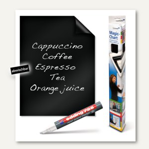 Magic-Chart Blackboard, selbsthaftend, 60 x 80 cm, schwarz, 25 Blatt, 7-159200