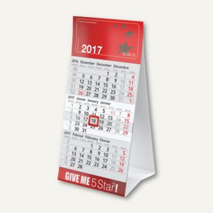 officio 3-Monats-Tischkalender - 9.5 x 18.5 cm, 229162