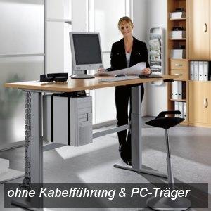 UP&DOWN Arbeitstisch NEW BASIC, elektr. verstellbar, B 160 cm, Buche, K73815/202