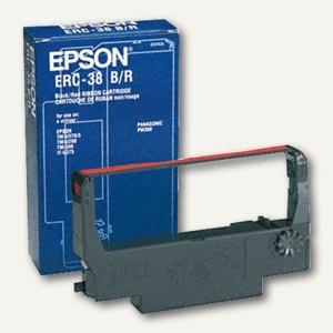 Epson Kassenfarbband, TM-300/U210/220/230/301, ERC38BR, schwarz/rot, C43S015376