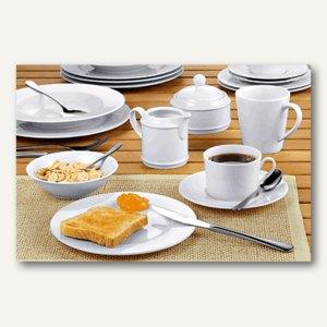 """Kaffeegarnitur Geschirrrserie """"HEIKE"""", 20-teilig, Porzellan, weiß, 433-145"""