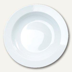 Esmeyer Suppenteller HEIKE, Ø 23 cm, weiß, 6 Stück, 433-005
